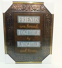Friends & Laughter  Inspirational  Wall Picture,Wall Plaque( NEW)
