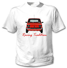 POLISH MALUCH RED FIAT 126P INSPIRED RACING TRADITION - WHITE COTTON TSHIRT
