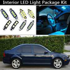 9PCS Error Free Ice Blue LED Interior Lights Package kit Fit 99-2004 VW Jetta J1