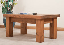 SOLID  RUSTIC SAWN PLANK COFFEE TABLE | Hand-waxed | Handmade to Order
