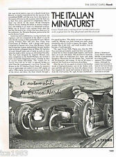vintage Enrico NARDI Racing History Article/Picture/Photo: ITALY