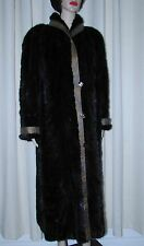 VINTAGE BEAUTYFUL REVERSABLE DARK  BROWN  MINK FUR COAT      SZ LARGE  BUST 45