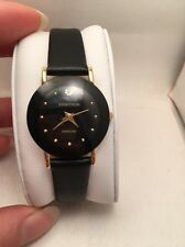 Armitron Womens 75-2447BLK NOW DiamondAccented Watch with Black Leather Band-R13
