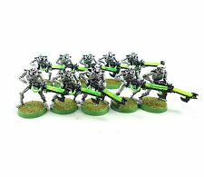WARHAMMER 40K ARMY NECRON WARRIORS X10 PAINTED AND BASED PLASTIC