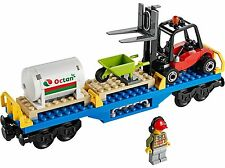 LEGO Octan Fuel Tank Flat Car w/ Forklift ONLY from City Cargo Train 60052