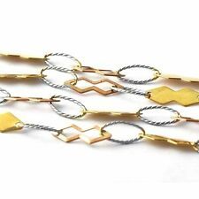 Korean jewelry yellow gold filled bib necklace Silver link Womens Necklace