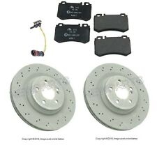 Mercedes W230 SL55 AMG SL600 03-09 High Value Rear Disc Brake Rotors Kit W/ Pads