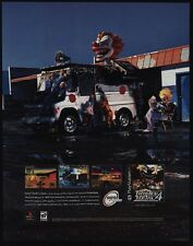 1999 TWISTED METAL 4 - 989 Studios - Video Game VINTAGE ADVERTISEMENT