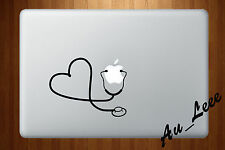 Macbook Air Pro Vinyl Skin Sticker Decal Doctor Medicine Stethoscope Love M227