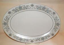 "CHINA PEARL Fine China MOON LIGHT 13"" Oval Serving Platter Pink-Blue-Rust Rust"