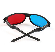Red Blue/Cyan 3D GLASSES Plastic Dimensional Anaglyph Frame for 3D movie game