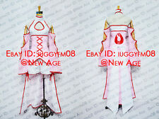 Puella Magi Madoka Magica Kyubey Personified Cosplay Costume Outfit Jumpsuit