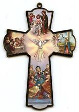 Holzkreuz Pfingsten Hl. Geist Eucharistie Jesus Kommunion Firmung 15 cm KR 2014