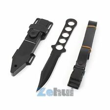 Durable Stainless Steel Fixed Blade Knife Survival Hunting Serrated Dagger NEW