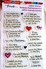 Love Always Card Sentiments Stampendous Clear Acrylic Stamp Set SSC1238 NEW!