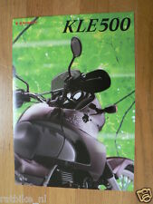 K097 KAWASAKI  BROCHURE PROSPEKT FOLDER KLE500 ENGLISH 4 PAGES