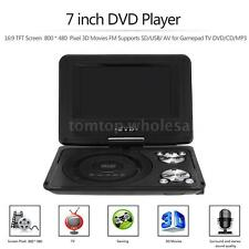 7 inch Portable DVD Player 16:9 TFT Screen SD/USB 3D Movie FM Radio TV Game MP3