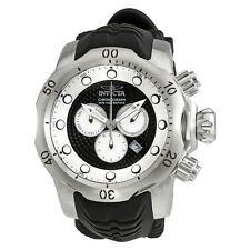 Invicta Venom  Chronograph Black and Silver Dial Black Silicone Mens Watch 20439