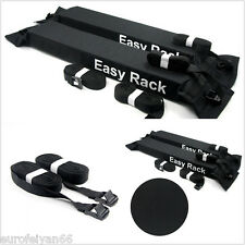 2 Pcs New Black Autos Soft Roof Rack Luggage Carrier Load 60kg Removable Holder