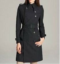 $1995 NEW Burberry London KENSINGTON HERITAGE US 10 Navy Lace Trench Coat Jacket