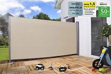 Seitenmarkise Sichtschutz Sonnenschutz Windschutz 160 x 300 cm BEIGE