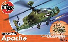 Airfix QuickBuild - Apache Elicottero senza Colori/Colla Modello Kit 1:72