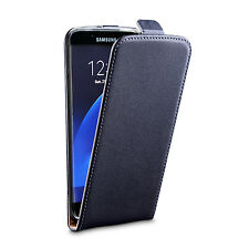 iDefend Samsung Galaxy S7 Edge Genuine Leather Flip Case + Screen Protector