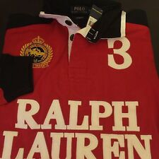NWT Polo Ralph Lauren Custom-Fit Snow Polo Rugby Jersey  Size Large