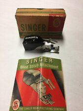 SINGER 1949 BLIND STITCH ATTACHMENT #160616 for Sewing Machines w/ Booklet