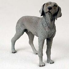 Weimaraner dog Hand Painted Figurine Resin Statue Collectible Weimeraner puppy