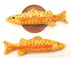 1:12 Scale 2 Fish For A Dolls House Miniature Kitchen Or Shop Food Accessory ZC