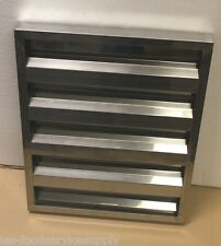 "Vent Hood Baffle Grease Filter All Stainless Steel 20""Wx20""x 1-1/2"" Venthood"