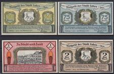 Notgeld Labes 50, 75 Pf., 1, 2 Mark 121, 4 Scheine, Sammlung, Lot