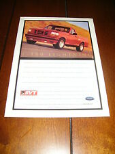 1993 FORD F-150 LIGHNING SVT - MUSCLE TRUCK  ***ORIGINAL AD***