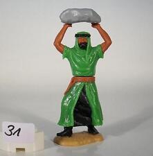 Timpo Toys Araber grün/schwarz mit Stein werfend Version 3