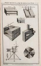 1788 antique print-cuivre plaque de gravure, physique, pneumatiques, air