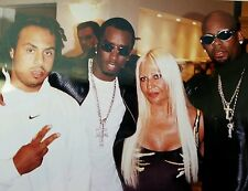 Puff Daddy, P Diddy, BAD BOY, R Kelly,  Hype, Donatella  Versace video shoot pic