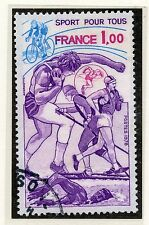 TIMBRE FRANCE OBLITERE N° 2020 SPORT POUR TOUS