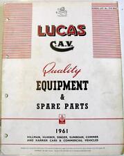 Lucas HILLMAN HUMBER cantante Etc Electrics equipos y piezas de repuesto 1961 901K CCE