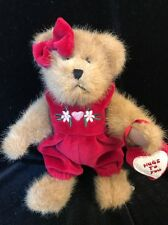 "Cute 8"" Boyds Bears Plush With Red Jumper ~ No Hang Tag"