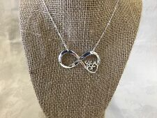 Browning Buck Doe Heart Infinity Necklace