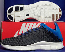 Nike Free Inneva Woven Newsprint Blue Hero Sail Footscape SZ 10 ( 579916-004 )