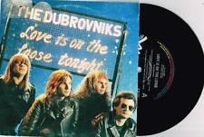 """DUBROVNIKS - LOVE IS ON THE LOOSE - RARE 7"""" 45 VINYL RECORD w PICT SLV - 1990"""