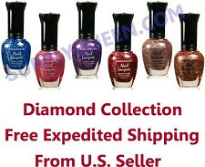 Kleancolor Diamond Collection Nail Polish Lot of 6 Colors Set Lacquer