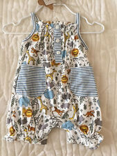 Mud Pie Baby Girls Safari Bubble Romper 6-9 Months 1132251 Shower Gift NWT