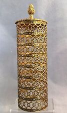 Vintage Gold  Metal  Filigree Hair Spray Cover