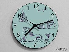 Sea Horse Wall Clock - Sea Life - Kids Nursery Room,Teens Room - Wall Clock