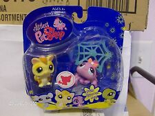 Littlest Pet Shop Happiest ~ Spider & Sugar Glider # 990 & 991 New in Box