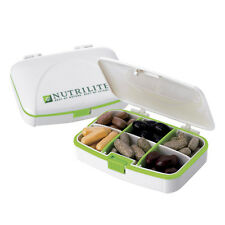 Amway Nutrilite Small Pill Box Pill Case Food Grade Plastic Rubber Seal .