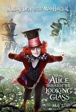 POSTER ALICE THROUGH THE LOOKING GLASS JOHNNY DEPP ANNE HATHAWAY LOCANDINA #9